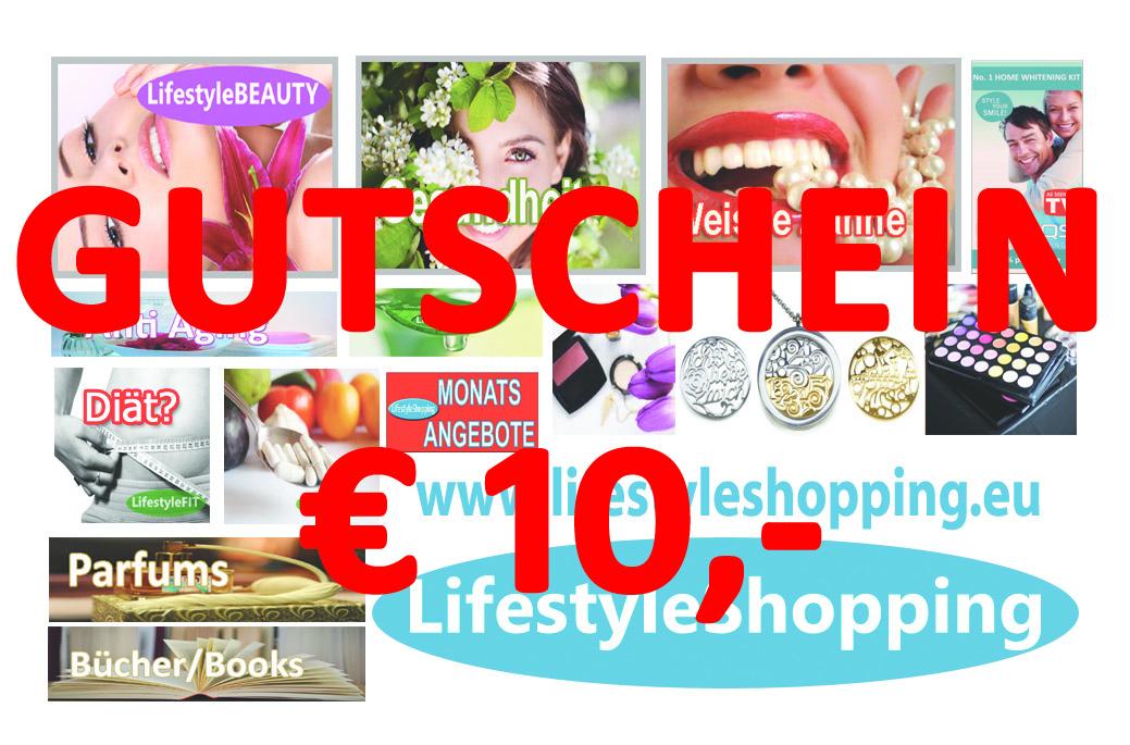GUTSCHEIN 10 EURO SHOP Visitenkarte 8.2015 1